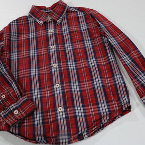 Izod Shirts & Tops - Izod Red Stripe Long Sleeve 7 in Boys